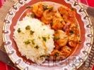 Рецепта Винен кебап със свинско и ориз